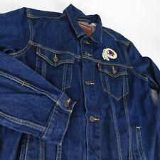 Levis Washington Redskins NFL Men Blue Denim Trucker Jacket Sz XL