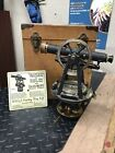 Antique W. & L.E. Gurley Troy Theodolite Precision Transit Surveyor Compass 62