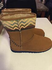 UGG PENDLETON CHESTNUT SHEEPSKIN BOOTS, YOUTH 6 EUR 36 NIB UGGS