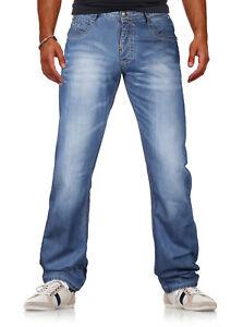 Herren hochwertige Jeans Denim Hose VIEWWAY'S Normaler Bund Used-Look (231-22)