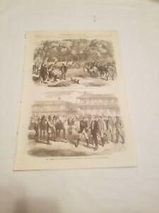 CR3) Last Days of The Confederate Government Jefferson Davis c.1865 Engraving