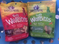 Wellbites Dog Treats Soft 6 oz Beef & Turkey, Lamb & Salmon Grain Free 2 pkg