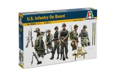 Italeri 6522 1/35 Scale Military Figure Model Kit WWII U.S.Infantry On Board