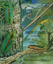 Insects, Plants of Red List Nature protection ss Burundi Sc.1144 BUR12401b IMPER