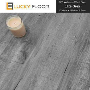 6.5mm Hybrid Flooring 100% Waterproof Flooring Hydro Tuff  Elite Grey