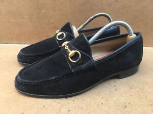 Gucci Horsebit Men's Black Suede Leather Loafers Uk 8.5 D || USA 9