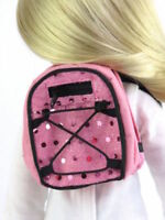 "Pink School Backpack Sequin For 14.5"" Wellie Wishers American Girl Doll Clothes"