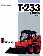 "THOMAS T233  SKID  STEER LOADER BROCHURE ""NEW"""