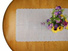 Centerpiece Tablecloth Dinning Table Cloth Center Cover Sheet Plastic Lace White