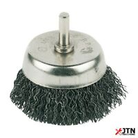 Silverline PB03 Rotary Steel Wire Cup Brush 50mm - 6mm Shank