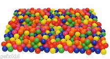 Pack Of 100 Plastic Balls For Filling Ball Pit Tent Playpen Children Kids Toy