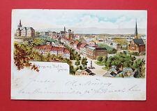 Litho AK TEPLITZ SCHÖNAU 1899 Stadtansicht mit Kirche   ( 35912