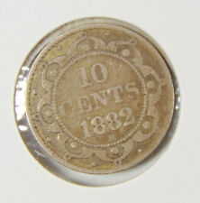 1882 H Newfoundland - 10 Cent Coin (Dime) - Rated VG8