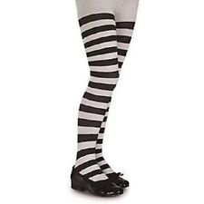 Ladies Girls Long BLACK/WHITE Over The Knee Striped Socks- One Size