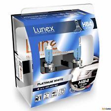 2x HB4 Lunex Platinum White 4000K 55W Bombillas Halógenas Faros 9006 Hard Case