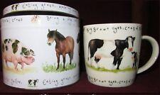 Mug dans sa boîte cadeau en métal Basse-cour Vache Farmyard Cow - Nuova R2S