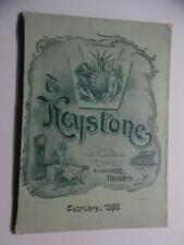 1898 THE KEYSTONE Magazine for Retail Jewelry Trade Optical Pens Silver Antique