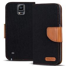 Schutzhülle Samsung Galaxy Note 4 Hülle Flip Case Handy Tasche Klapphülle Cover