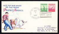 1941 USA Patriotic cover with Portland Bight Jamaica West Indies postmark to NY