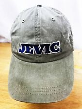 JEVIC BASEBALL HAT CAP KHAKI ADVERTISING EMBROIDERED TRANSPORTATION OSFM STRAP
