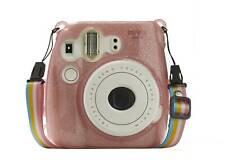Hard Glitter Case for Fuji Instax Mini 8/9 Flamingo Pink + Strap