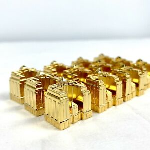 1991 Franklin Mint Monopoly Collector's Edition Game Pieces 12 GOLD HOTELS ONLY