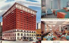 JEFFERSON DAVIS HOTEL Montgomery, Alabama Petite Cafe ca 1950s Vintage Postcard