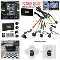 Car 360° Seamless Panoramic Monitoring System 4 Waterproof Cameras+Shock Sensor
