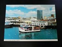 San Diego California CA Downtown Skyline Harbor Boats Marietta Cabrillo Postcard