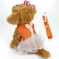 Puppy Control Harness Adjustable Vest Walking Strap Clothes Pet Dog Tutu Dress