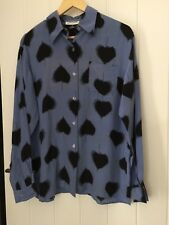 100% Pure Silk Ladies Floral Shirt. Size S plus 12-14 Brand New