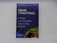 Don Powells mink trapping book. traps trapping supplies fox urine