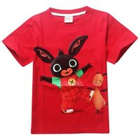 BING BUNNY & FLOP Red T-Shirt - 100% Cotton - NEW WITH TAGS - Ages 2-6 years