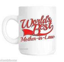 Mother In Law World's Best Red Novelty Gift Mug shan848