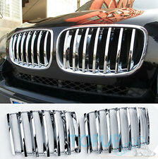 FIT FOR 2008-2013 BMW X5 E70 3 CHROME FRONT MESH GRILL GRILLE COVER TRIM INSERT