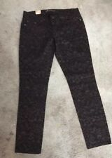 Levis 524 Size 11 Too Low Skinny Jeans Black Patterned Inseam 30