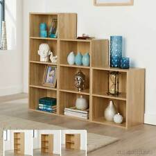 Wide Storage Unit Cube 2 3 4 Cubes Bookcase Shelving Home Office Wooden Display