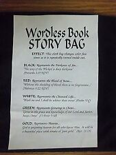 CLEARANCE--Wordless Story Bag, a Gospel Object Lesson
