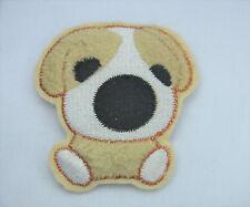 Chiot Terrier Chien Beagle 8cm PELUCHE brodé à coudre Vêtement PATCH APPLIQUE