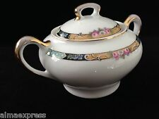 Gimbel Brothers KPM Bavaria Germany China 27044-4576 Rose Gold LIDDED SUGAR BOWL