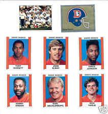 1988 Panini Denver Broncos Set JOHN ELWAY TONY DORSETT VANCE JOHNSON RICK KARLIS