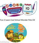 Fisher Price Fun 2 Learn Computer Cool School Software Wonder Pets Game CD