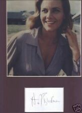 Honor Blackman signed card +Pussy Galore pic display