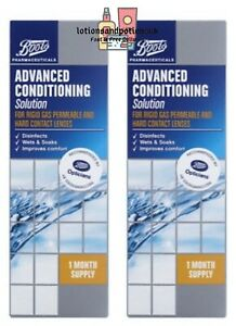 2 x Boots Advanced Solution for RIGID GAS PERMEABLE & HARD Contact Lenses