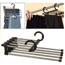 1Pcs Trousers Pants Hanger Multi-function Retractable Closet 5 in 1 Wholesale