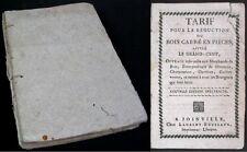 Tarif pour la réduction du bois carré en pièces/ Laurent-Roussaux/ Joinville 18è