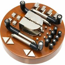 """34Pc Engraving Ball Attachment Set with Wooden Block for 5"""" Ball"""