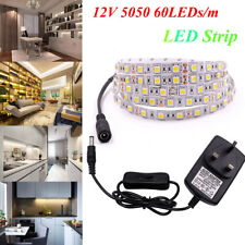 5050 LED Strip Light Tape 12V White /Warm White Under Cabinet Kitchen Lighting