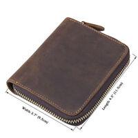 J.M.D Men's Leather Zip Around Wallet ID Card Window Secure Zipper Bifold Purse