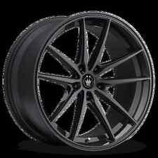 17x8 KONIG OVERSTEER 5x112mm +45 Black Wheels Fits VW cc eos golf jetta gti
